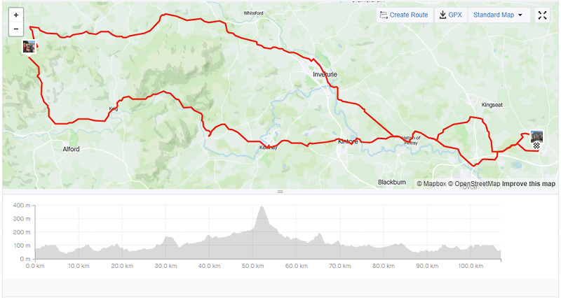 Charity Ride Route