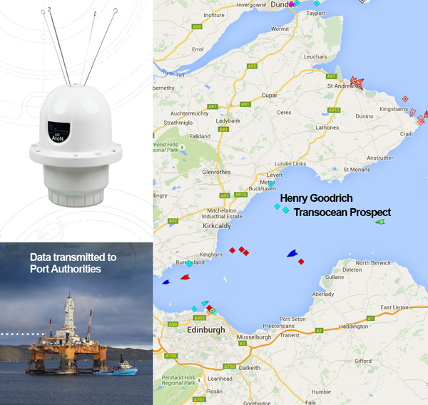 MSSL-AIS Informer for Henry Goodrich & Transocean Prospect Semi-Submersible
