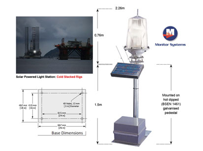 Solar Powered Light Station for Galaxy III and Monarch